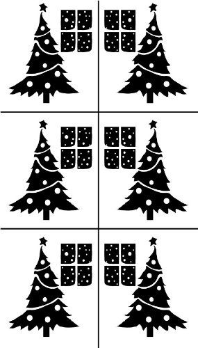 Armour Etch Stencil Rub N Etch Stencil Christmas Trees 5 Inch By 8 Inch Armour Etch Stencil H Stencil Template Arts Crafts Supplies Glass Etching Patterns
