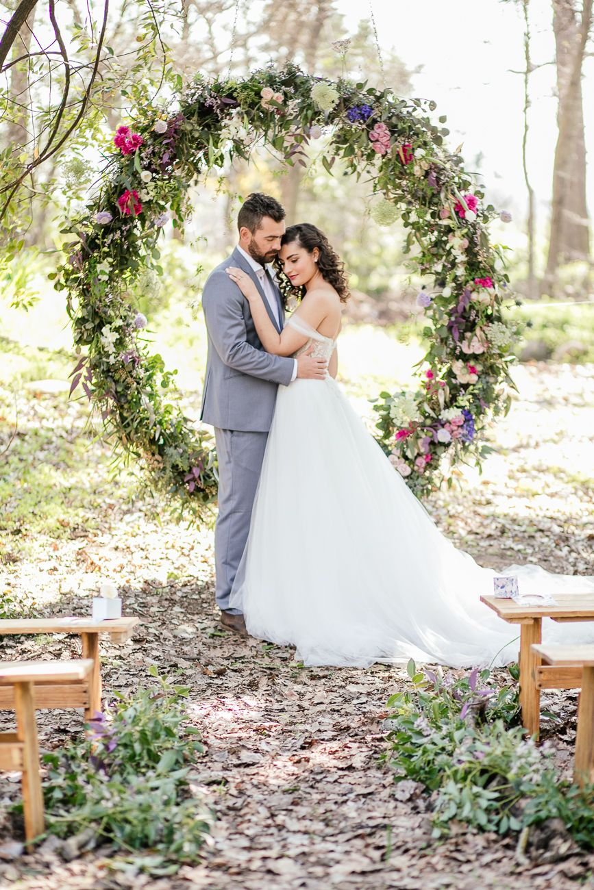 Outdoor Vows + A Giant Floral Wedding Ceremony Wreath! | Pinterest ...