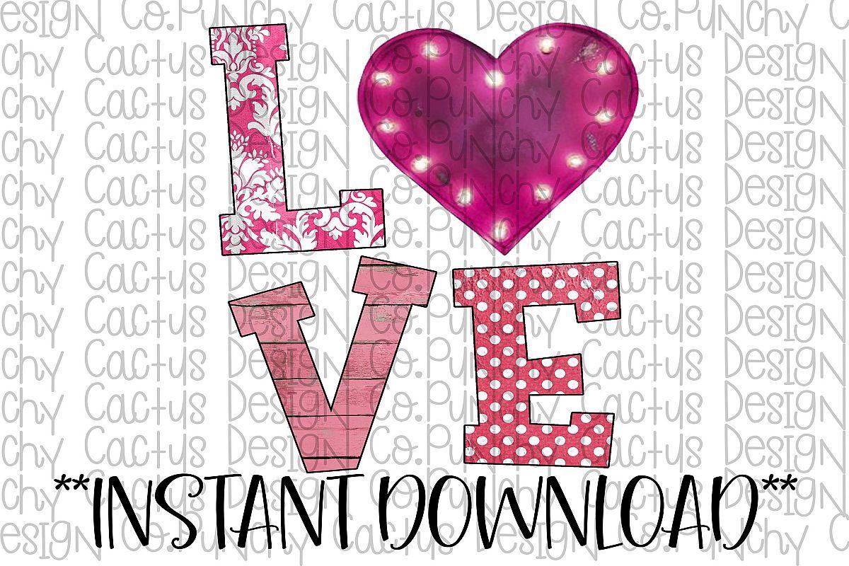 Download Pink Love Sublimation Download, Valentine's Day   Pink ...