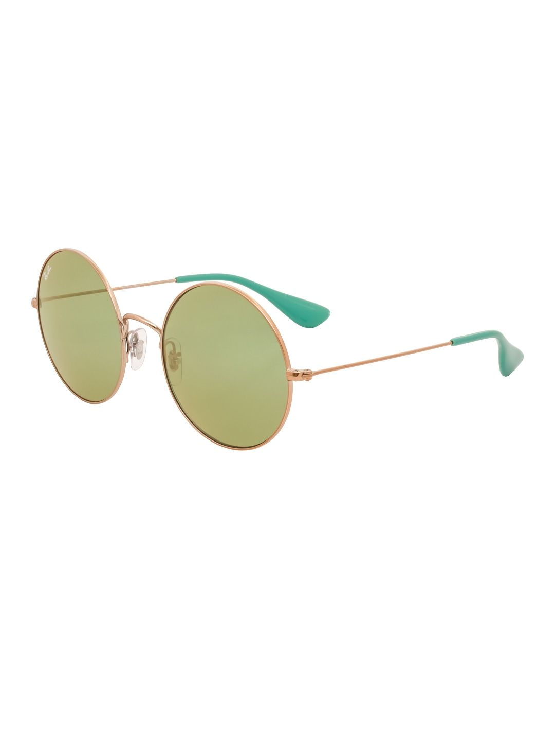 83c7fdbf943ee RAY BAN WOMEN S MIRRORED ROUND METAL FRAME - GREEN