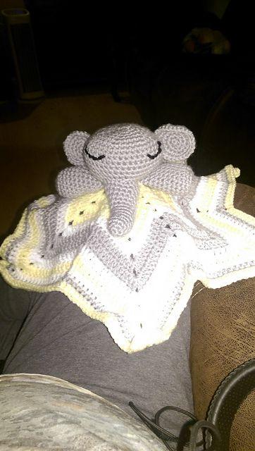 Ravelry Chevron Elephant Lovey Pattern By Regina S Graham Fascinating Crochet Elephant Lovey Pattern