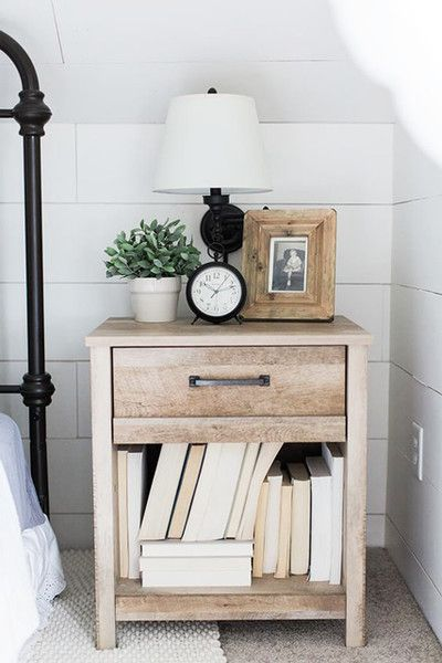 Bedside Style Bedroom Night Stands Farmhouse Bedroom Furniture