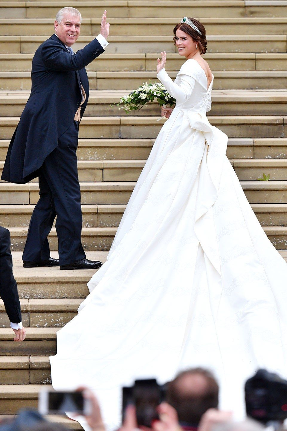 The Must See Moments At Princess Eugenie S Royal Wedding Famous Wedding Dresses Princess Eugenie Eugenie Wedding [ jpg ]