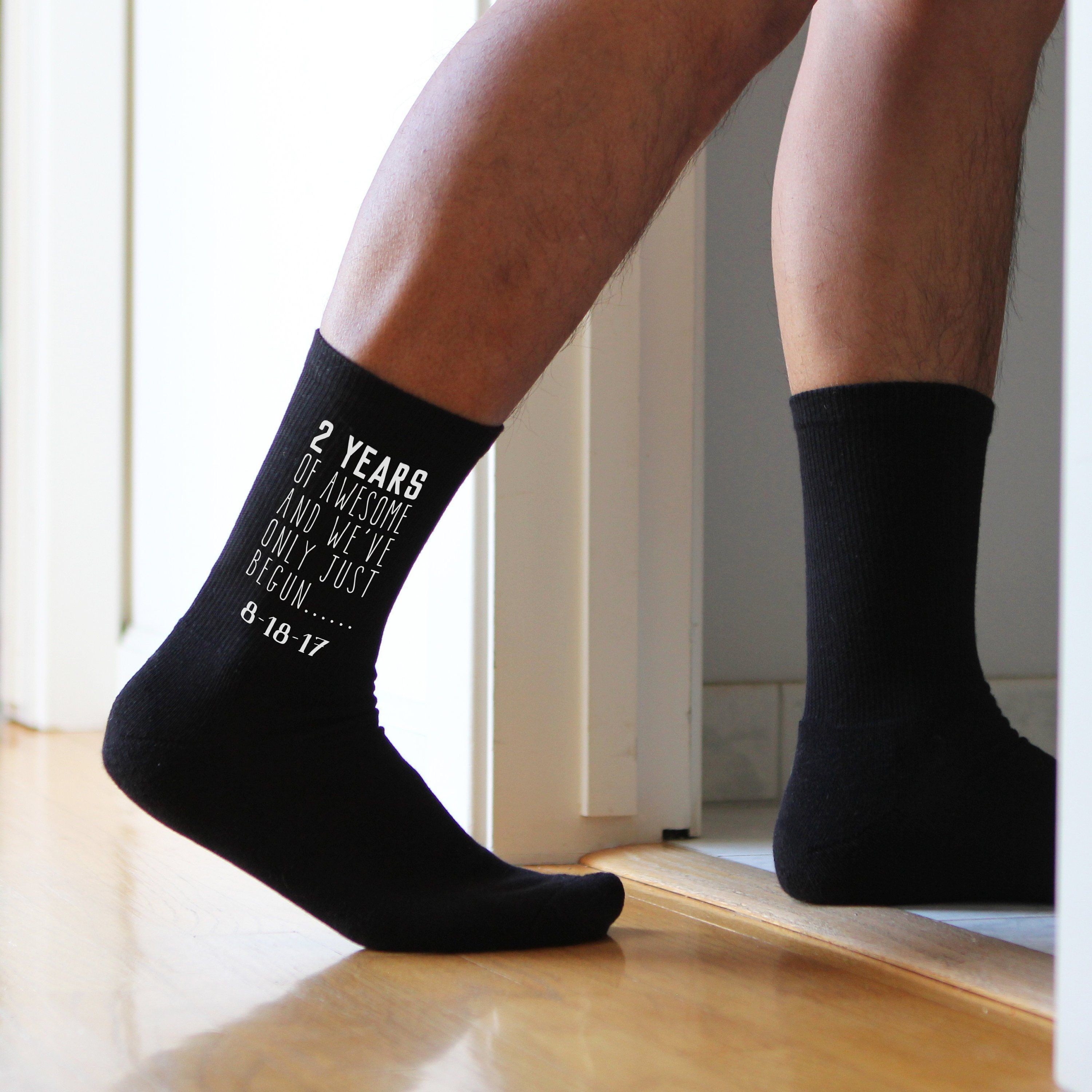 2 year anniversary socks for a cotton anniversary gift