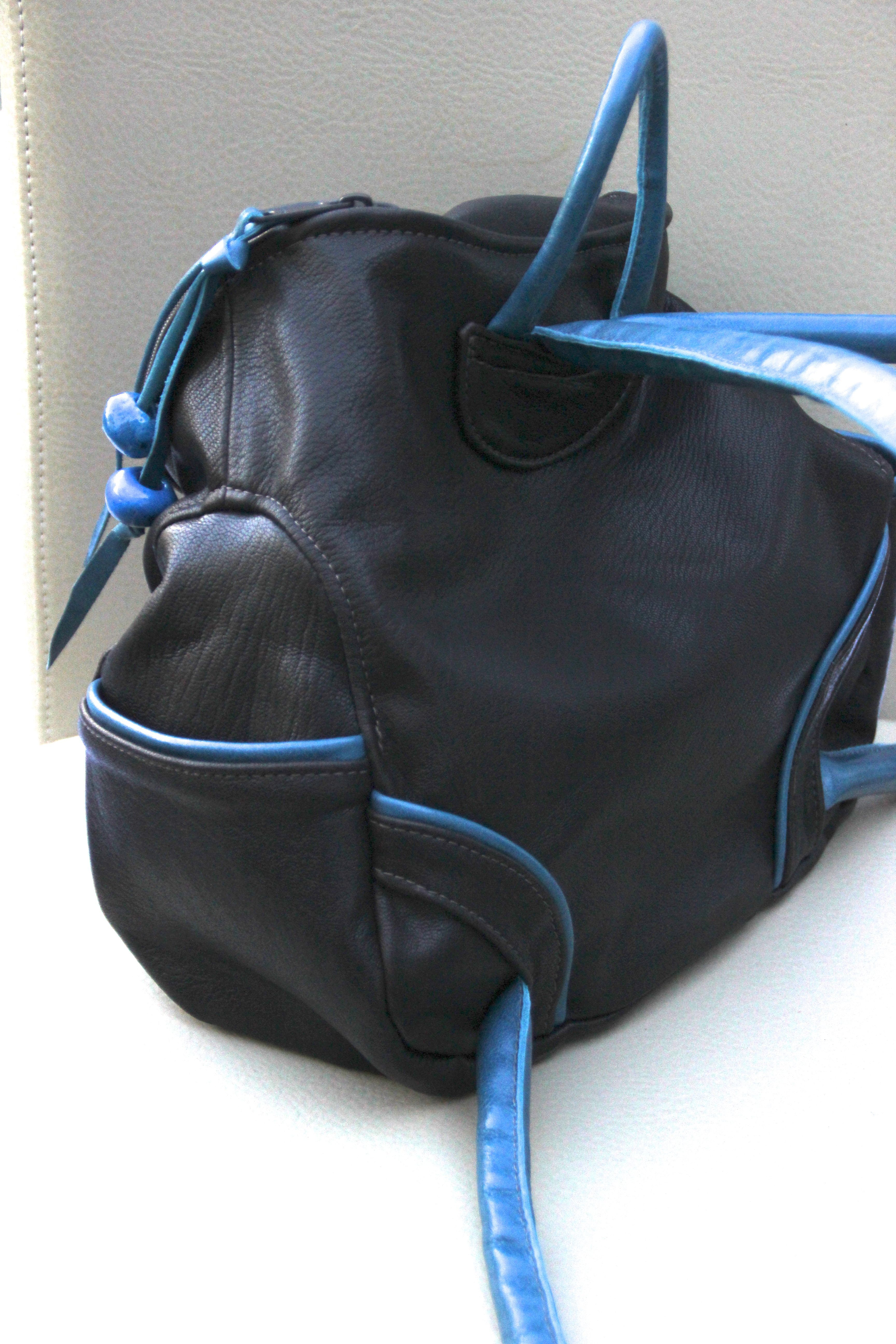 a95de5efc5ba Mini leather backpack from Jackie Robbins Leather Waves