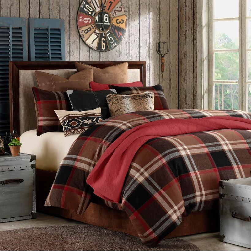 Woolrich+Bedding+Discontinued dyed brushed cotton