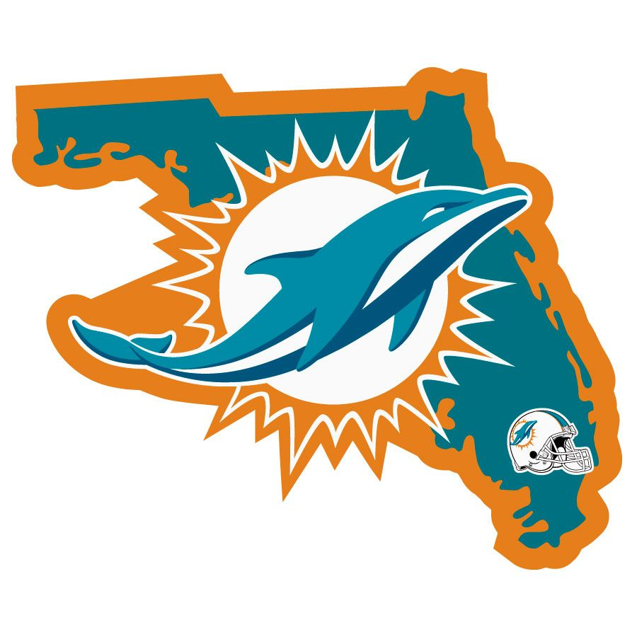 Miami Dolphins Home State Decal in 2020 Miami dolphins