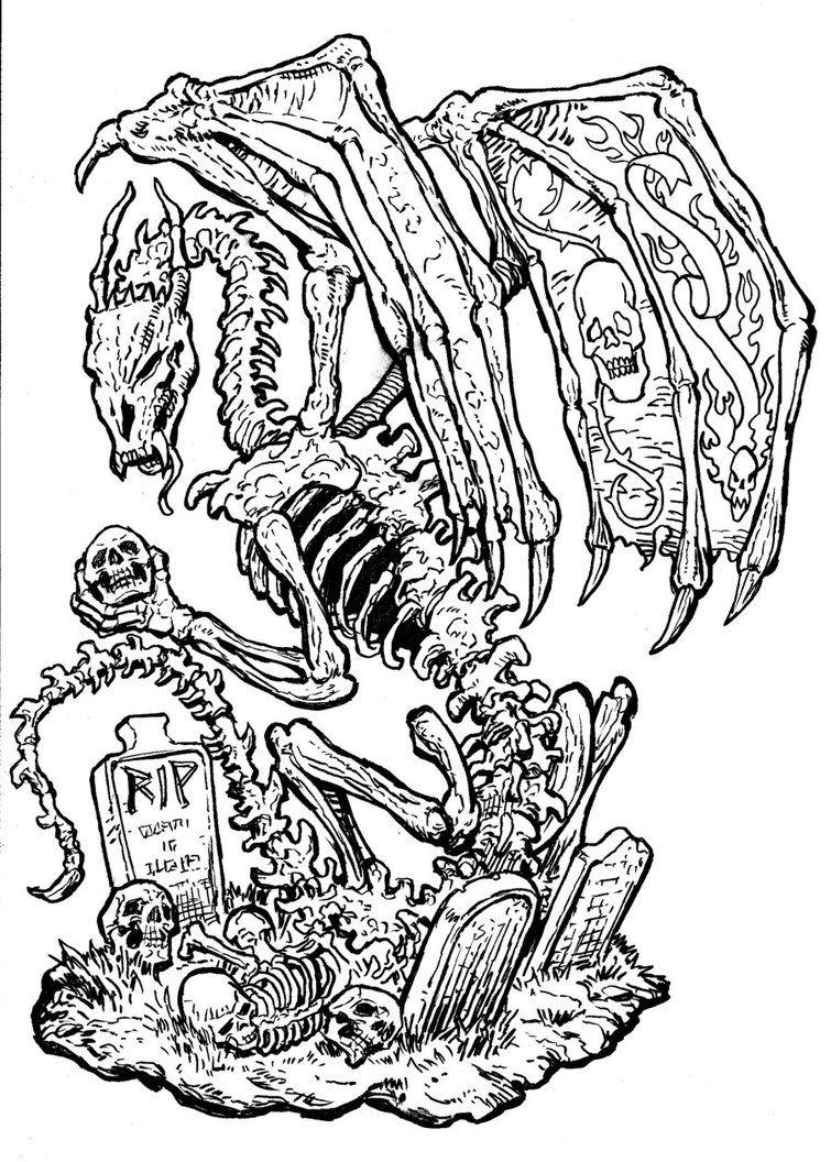 skeleton art | Skeleton Dragon by ~Bankster on deviantART ...