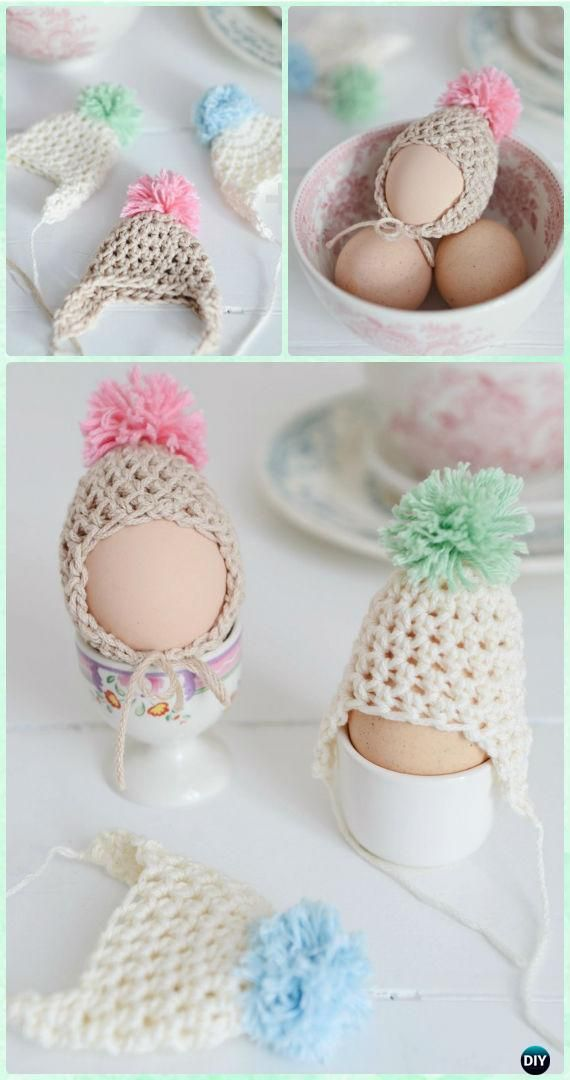 Crochet Easter Egg Cozy Cover & Holder Free Patterns | Tejido ...