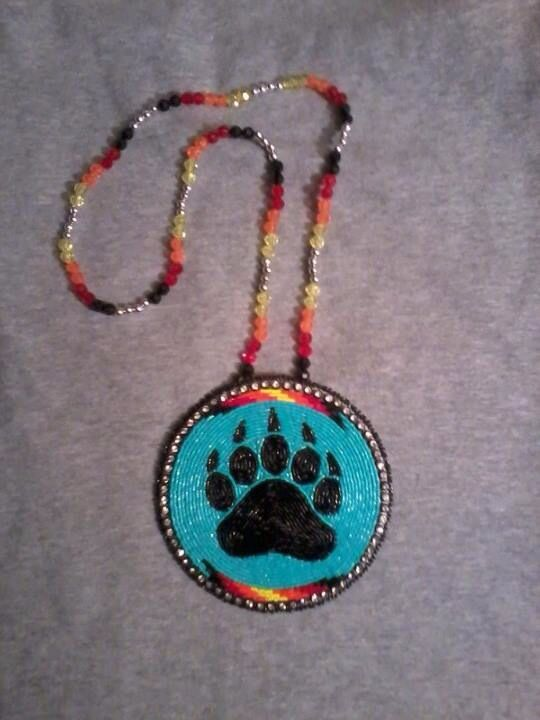 Beaded Medallion Bear Claw Bead Embroidery Patterns