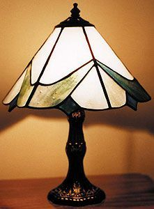 Free Contemporary Lampshade Pattern Stained Glass Lamps