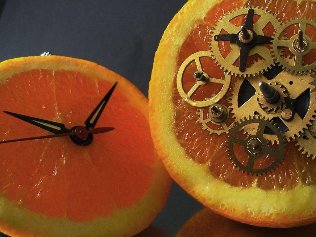 Orange Clock | Being Creative
