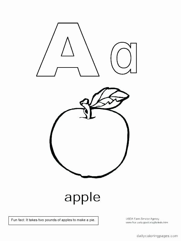 Alphabet Coloring Book Pdf Awesome Free Alphabet Coloring Book Printable Pdf Coloring Letter A Coloring Pages Apple Coloring Pages Printable Coloring Pages