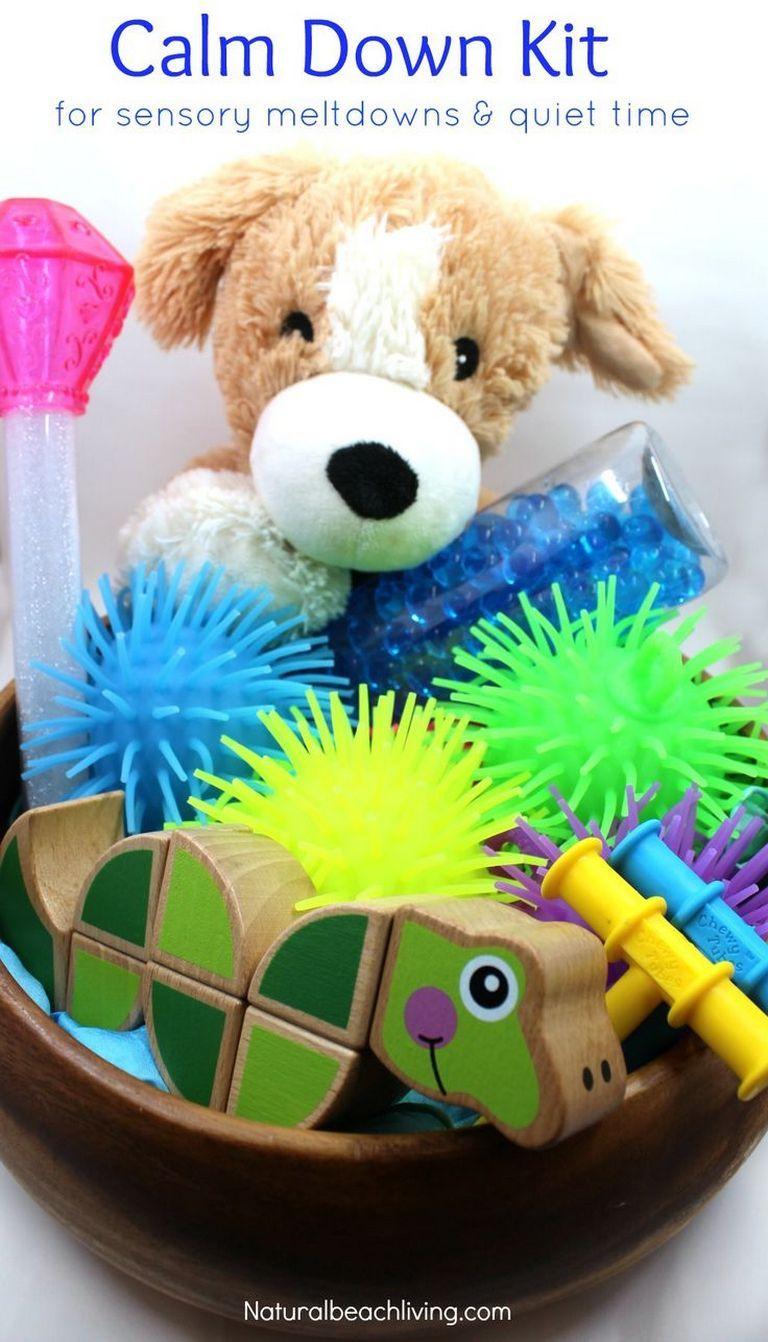 55 diy fidget toys fun | Calm down box ideas | Calm down kit