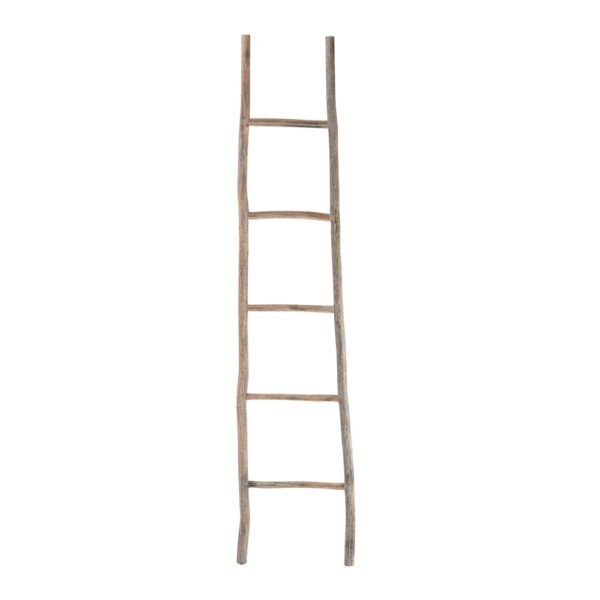 Large White Washed Wood Ladder by Dimond Home