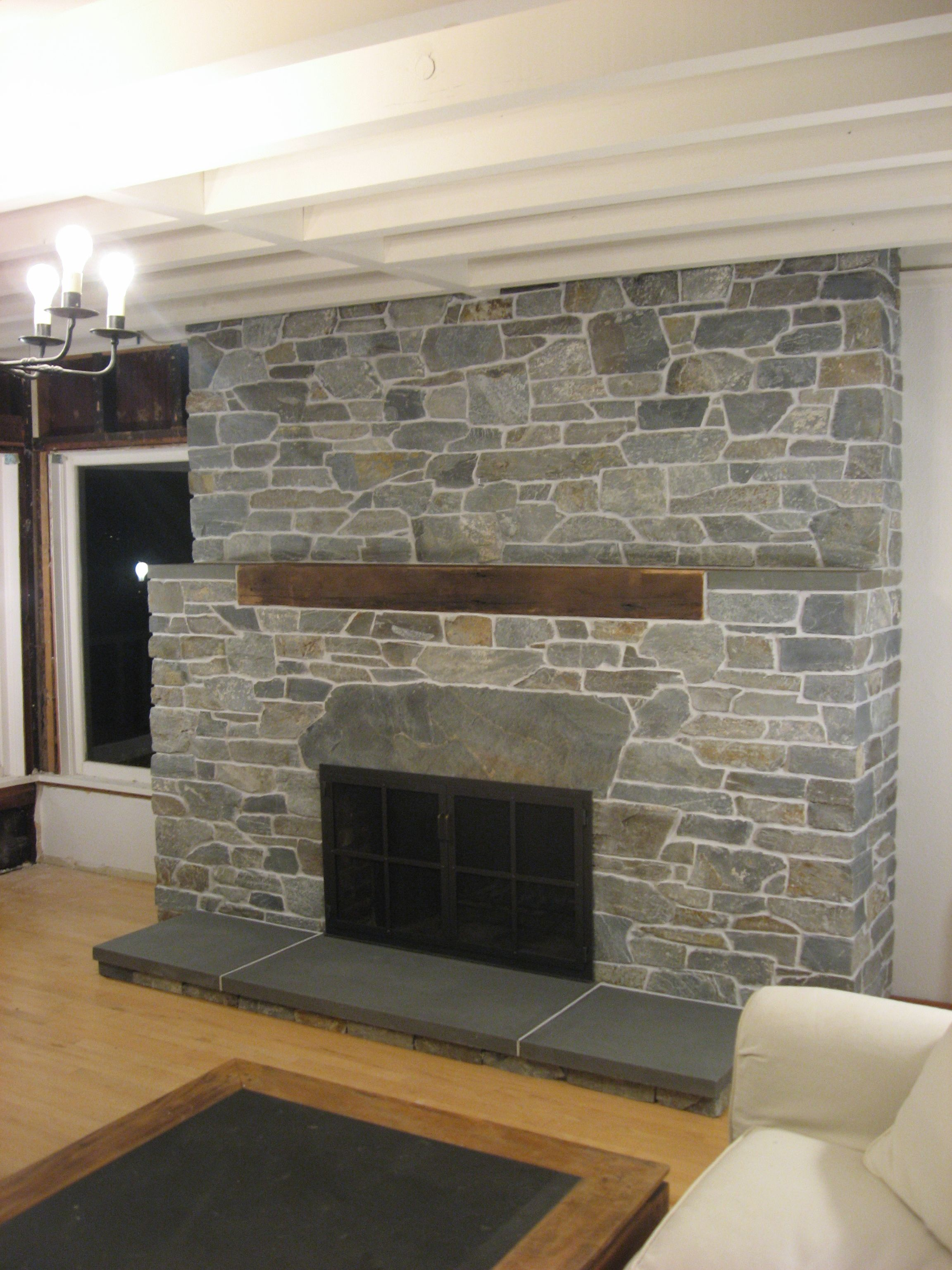 of airstone faux using fireplace stone makeover magnificent on ideas