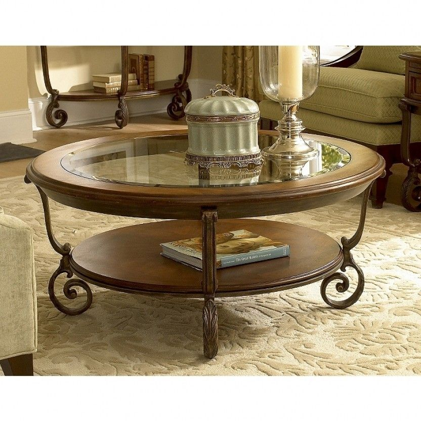 Fortunado round cocktail table by riverside furniture