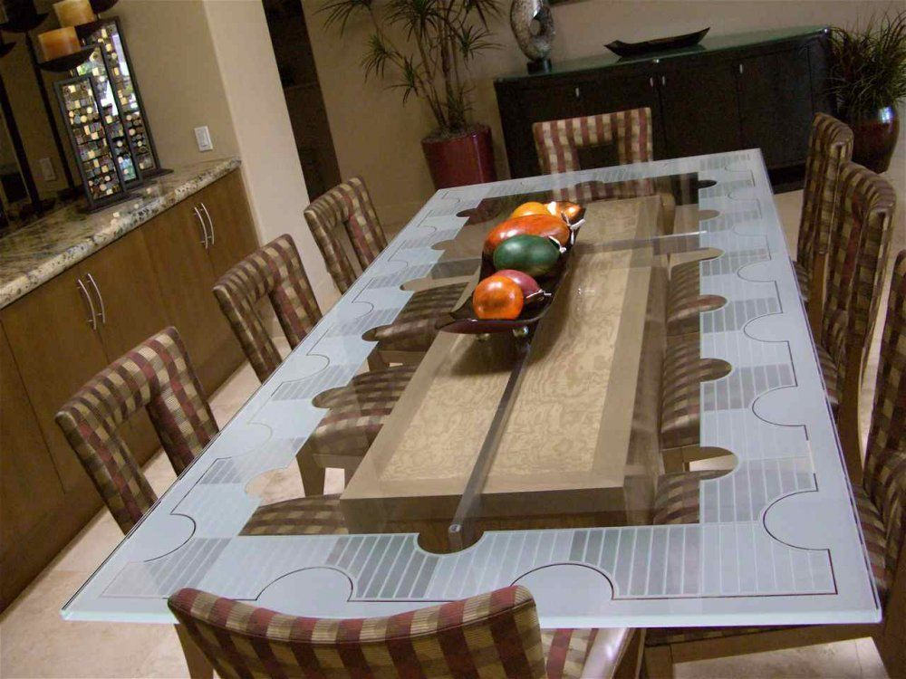 Glass Tables l Custom Glass Table Tops l Sans Soucie | Minneapolis ...