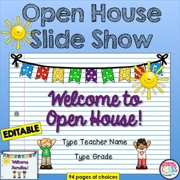 Back to School Slideshow or Parent Night Presentation or Open House - open house powerpoint template