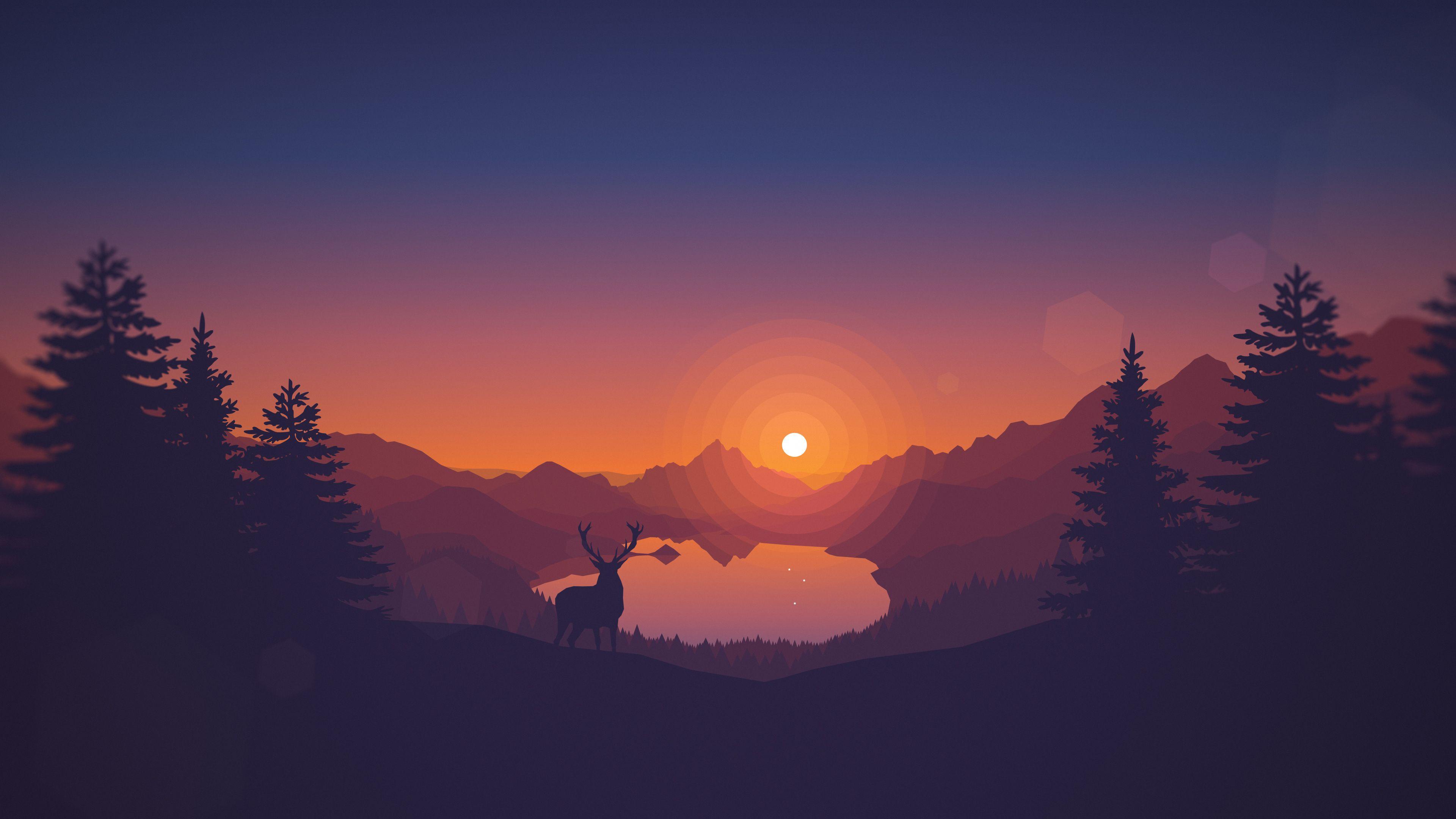 Firewatch Wallpaper Hd Download Landscape Wallpaper Sunset Wallpaper Minimalist Wallpaper