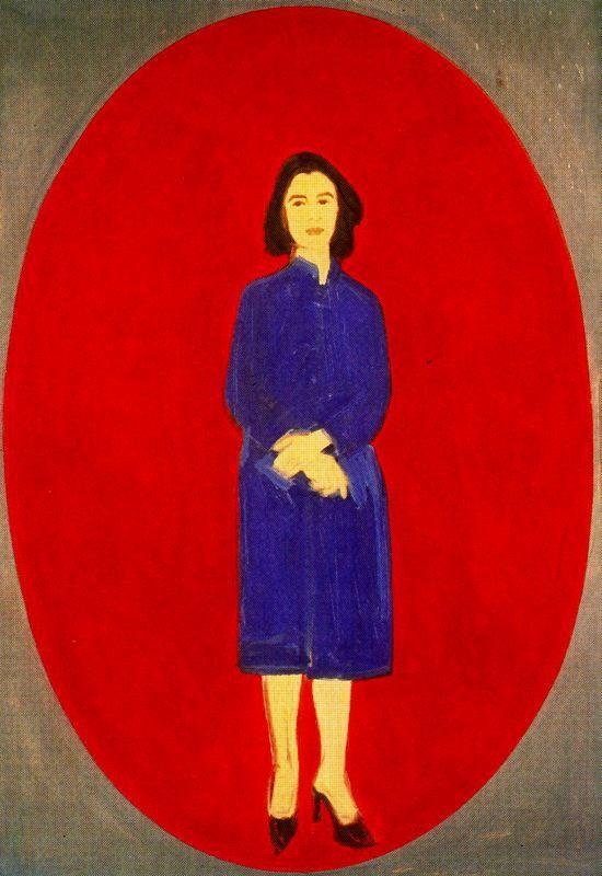Ada (Oval). 1959. Alex Katz (nació en Brooklyn, 24 de julio de 1927), pintor, es uno de los precursores del arte pop. Ingresó en 1946 en la Cooper Union School of Art and Architecture.Su obra caracteriza por sus composiciones planas, es conocido por sus siluetas o 'cutouts', retratos pintados sobre madera recortada, que lleva realizando desde los años 60. Su obra esta en el MoMA, el Whitney Museum, el Metropolitan Museum, el Centre Georges Pompidou, la Tate Gallery o el Museo Reina Sofía.