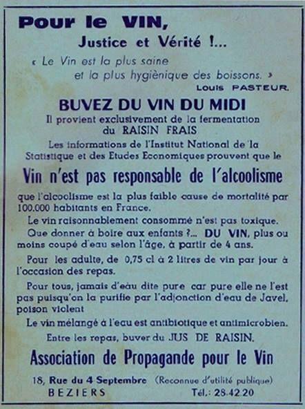 Pour Le Vin Justice Et Verite Citation Vin Loi Evin Vin