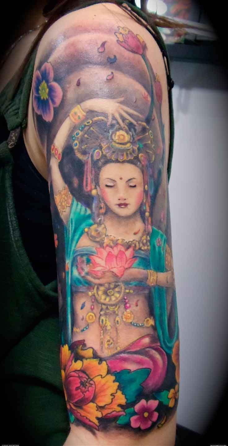 This is soooo beautiful tatoo pinterest flower tattoos lotus collection hindu god and goddess tattoos religious tattoo designs izmirmasajfo