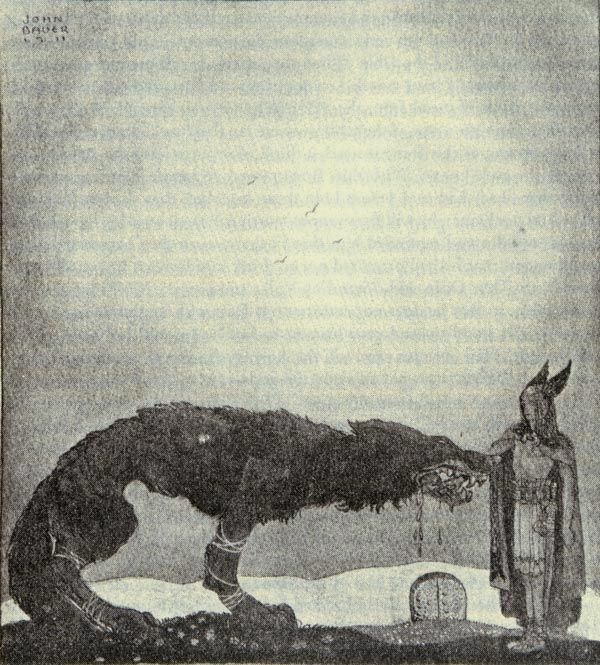 One of my favourite Norse Legends (Tyr & Fenrir) by one of my favourite artists, John Bauer.