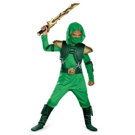Child Martial Arts Shadow Ninjas Uprising Green Master Ninja Classic Costume