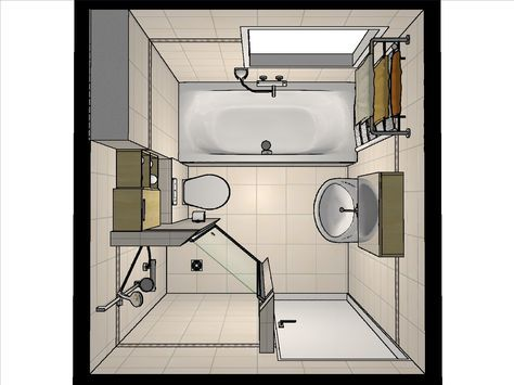 Badkamer Indeling Ideen : Idee voor de indeling van een kleine badkamer door onze