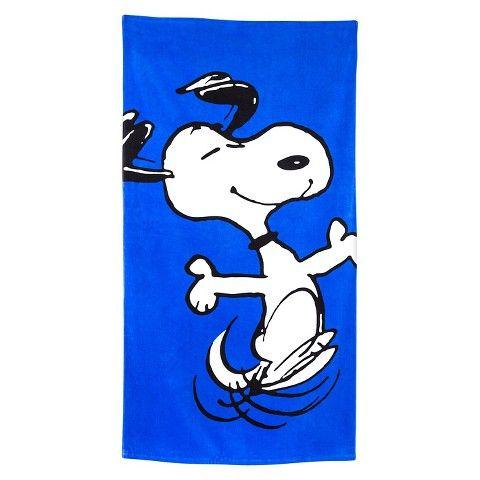 Snoopy Beach Towel - Blue $7 Target