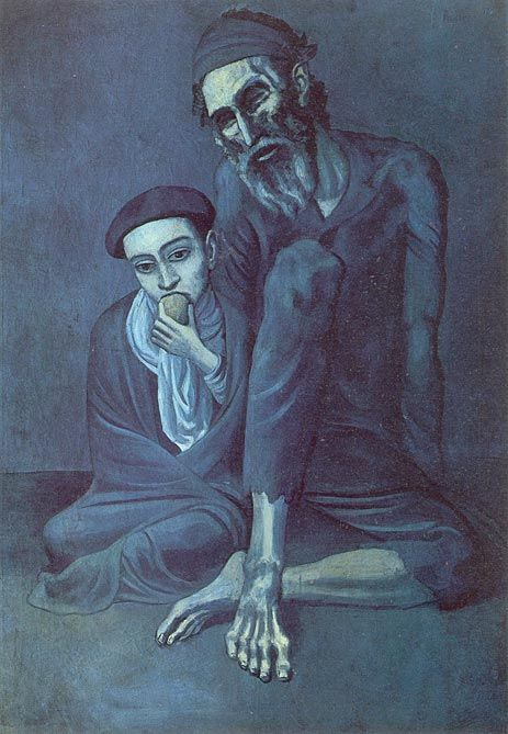 Old Jew with the Boy - Pablo Picasso -
