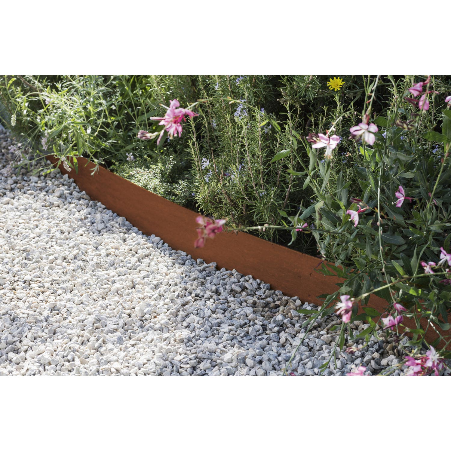 Bordure A Planter Aspect Rouille Acier Galvanise Marron H 13 X L