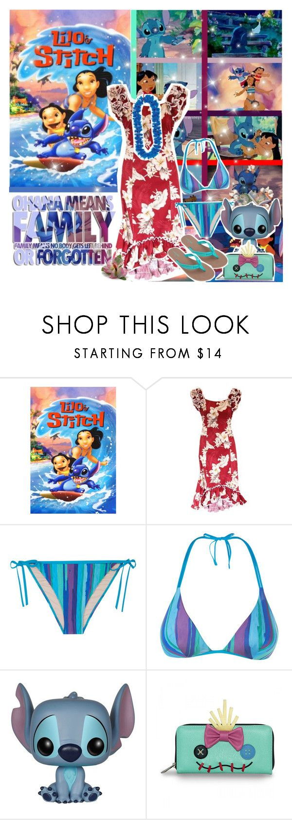 """Lilo and Stitch"" by chey-love ❤ liked on Polyvore featuring Disney, TIKI and Volcom"