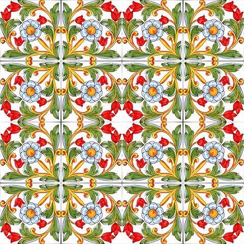 PIASTRELLA in ceramica MADE IN ITALY MATTONELLA ROSA DEI VENTI 20 X 20 cm