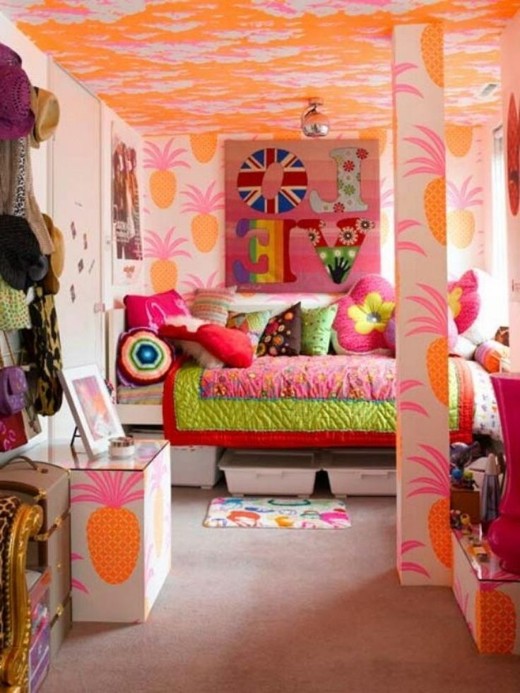 Bedroom Creative Little Girls Bedroom Ideas With Simple And - Teenage girl bedroom ideas bright colors