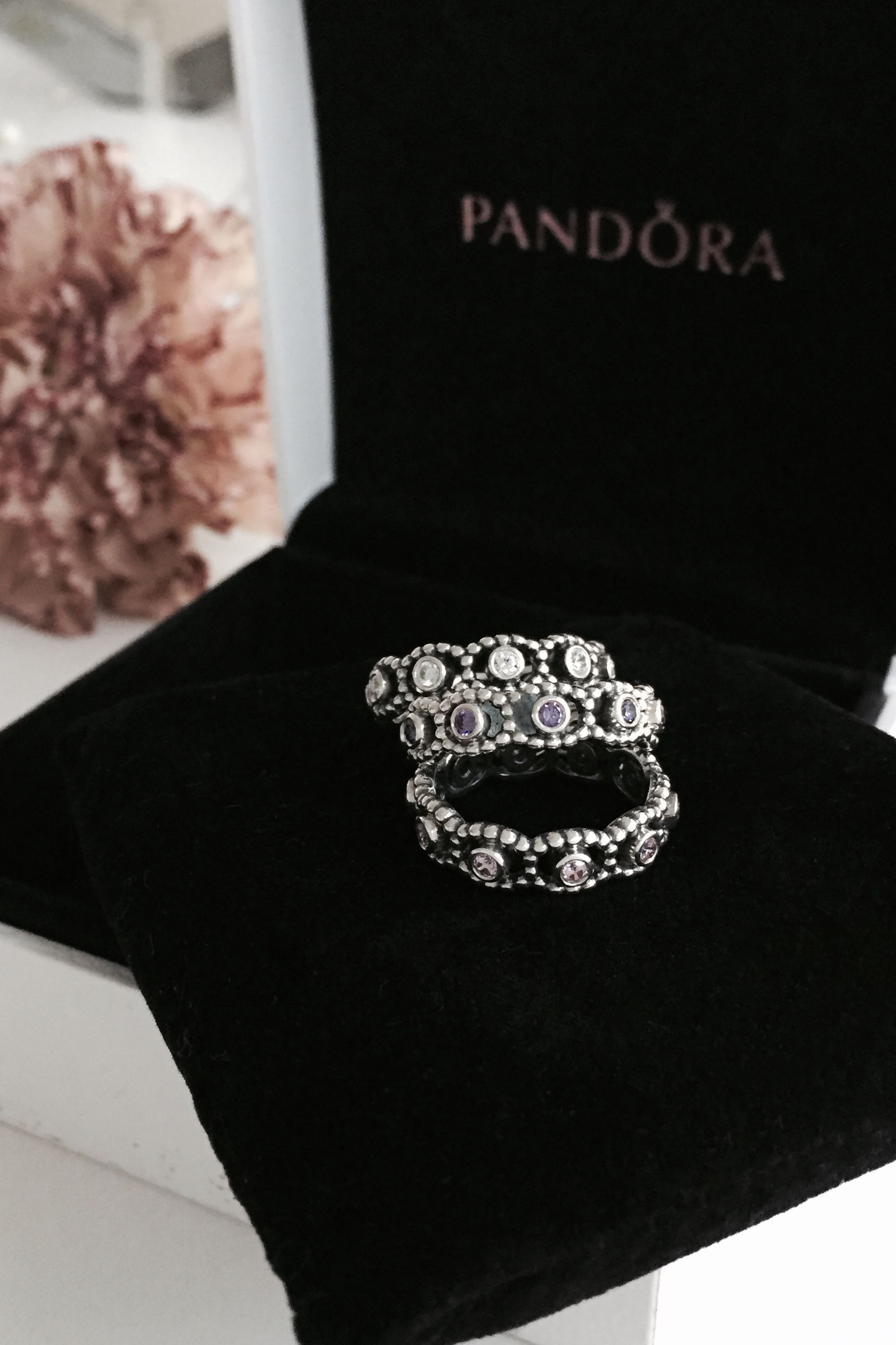 Authentic Pandora Silver Dazzling Daisy Meadow Ring Size 54