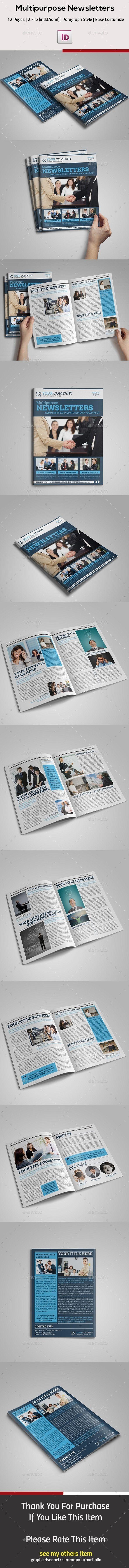 Multipurpose InDesign Newsletter - Newsletters Print Templates ...
