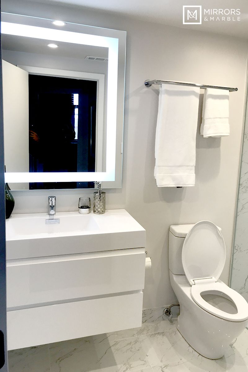 Front Lighted Led Bathroom Vanity Mirror 36 In 2021 Small Bathroom Makeover Led Mirror Bathroom Small Bathroom Remodel 36 x 40 mirror