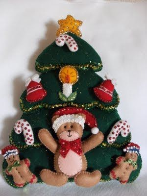 Recycle, Renew and Decorate With José Luis and Biby: LES SHARE CHRISTMAS TREE IN FELT AND MOLD