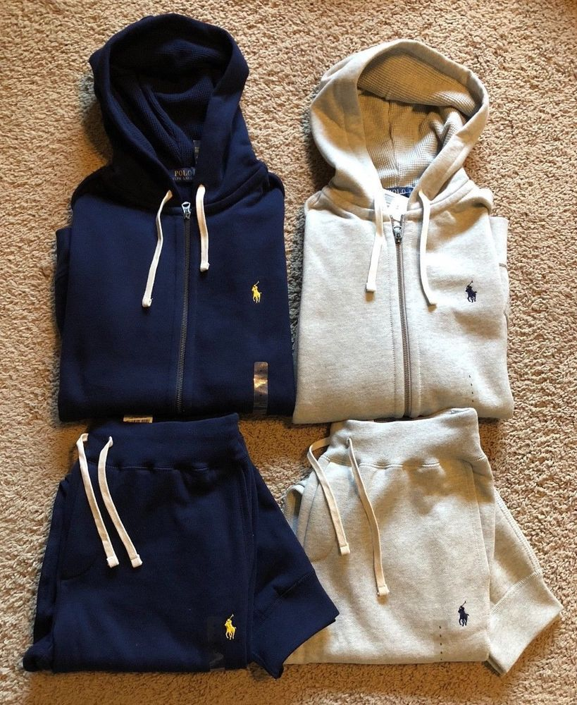 great look discount up to 60% save up to 80% NEW Polo Ralph Lauren Mens Sweat Suit Athletic Zip Hoodie ...