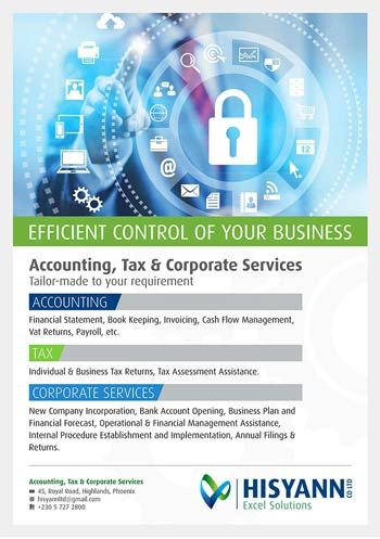 HISYANN CO. LTD - Your Accounting, Tax & Corporate Solutions Provider. Tel: 5727 2800