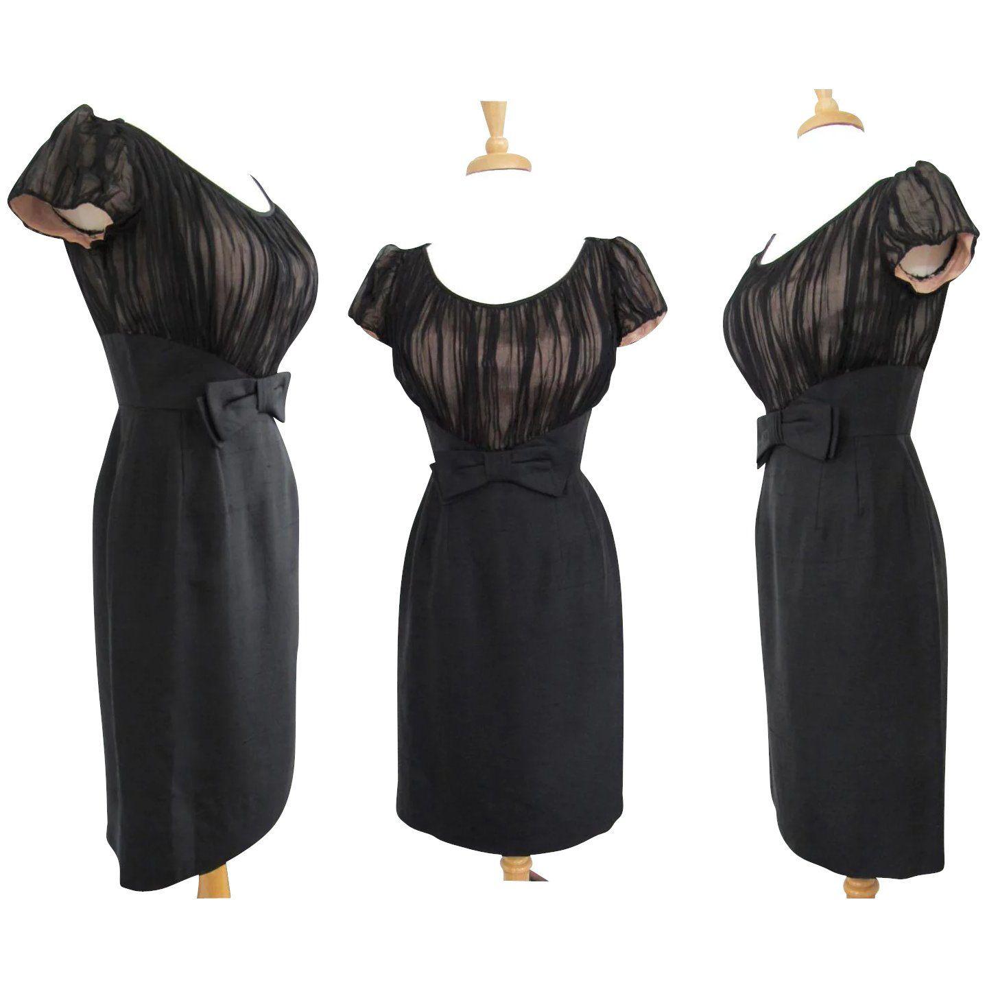 Vintage 1950s Dress Montego Original Black 50s Dress Etsy Vintage 1950s Dresses Black 50s Dress Dresses