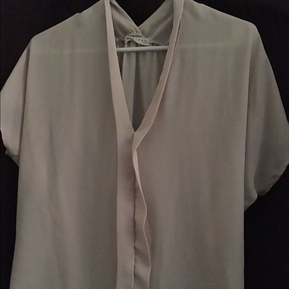 Milky Way Sheer blouse Beige sheer blouse size small Milk way Tops Blouses
