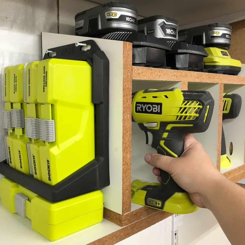 Easy Diy Cordless Drill Storage Rack Woodworking Plans Free Woodworking Plans Storage Woodworking