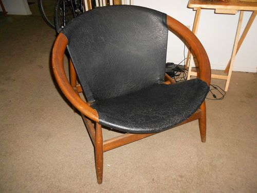 Lovely Mid Century Danish Modern Circle Chair Illum Wikkelso Eames Era