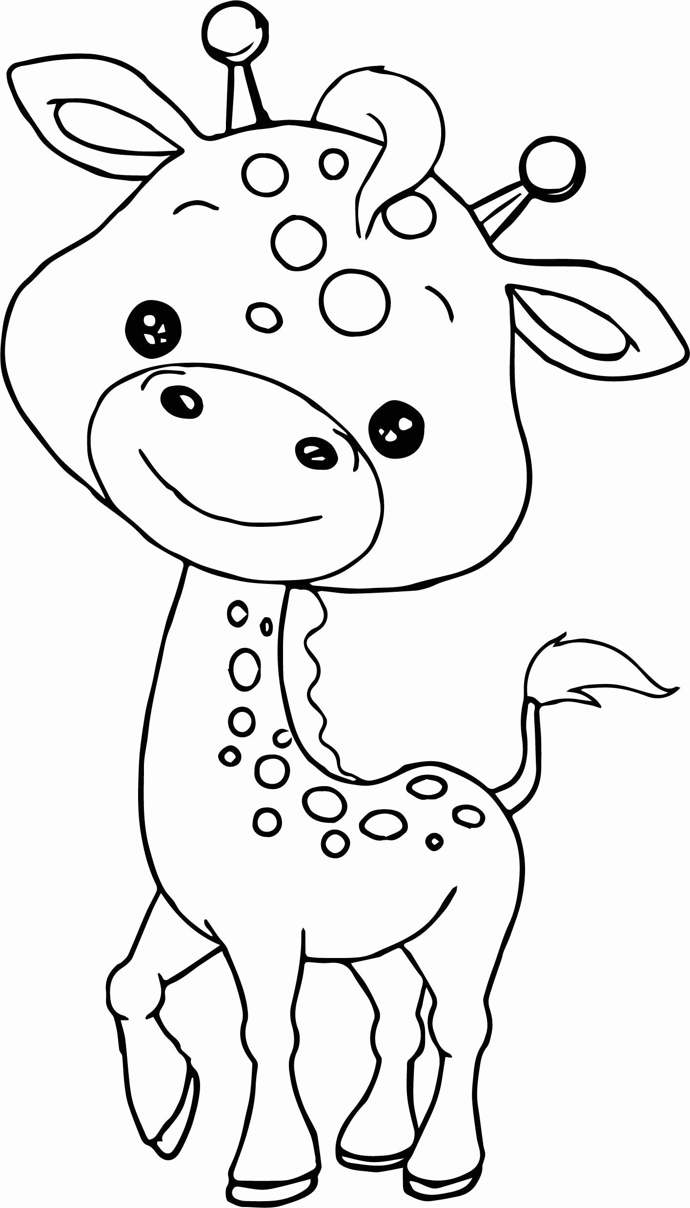 Cute Baby Animal Coloring Pages For Kids Zoo Animal Coloring Pages Giraffe Coloring Pages Zoo Coloring Pages