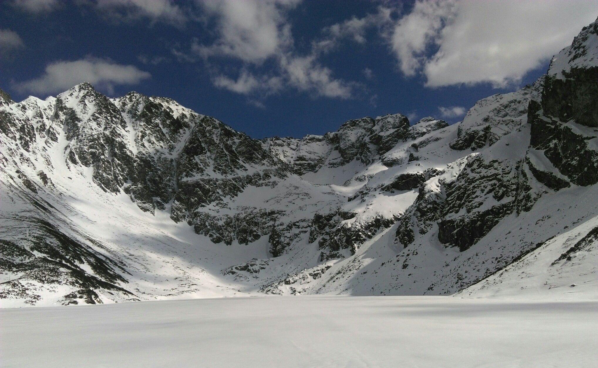 Black Pond Poland Winter In Tatra Mountains