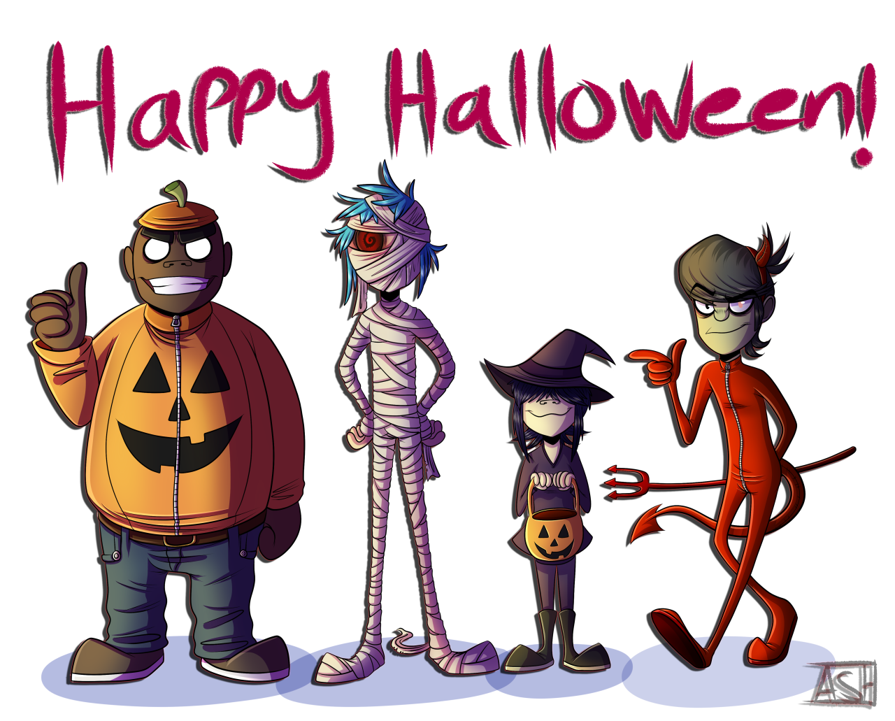 """ashesfordayz """"HAPPY HALLOWEEN!!! And of course a big"""