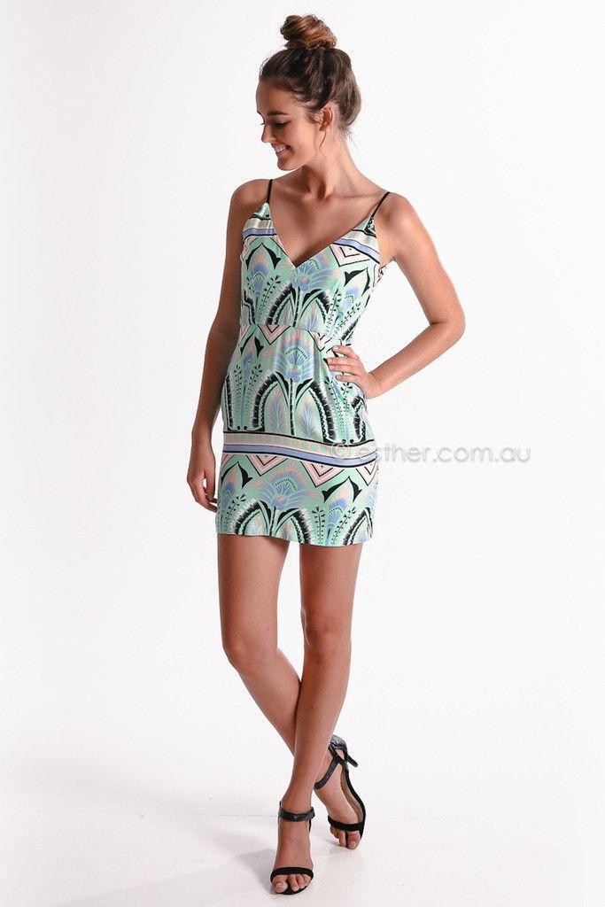 paradisum cocktail mini dress - aqua - sale | Esther clothing Australia and America USA, boutique online ladies fashion store, shop global w...